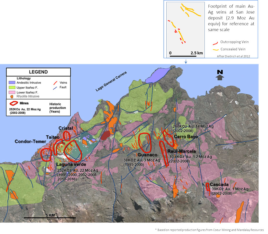 Cerro Bayo Mine District Summary Geology & Past Production